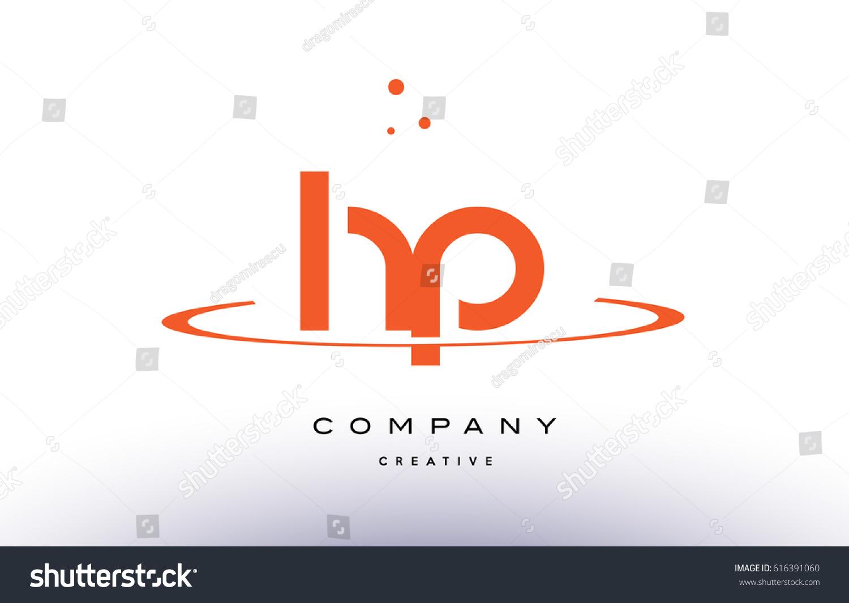 HP H P Creative Orange Swoosh Stock Photo (Photo, Vector ...
