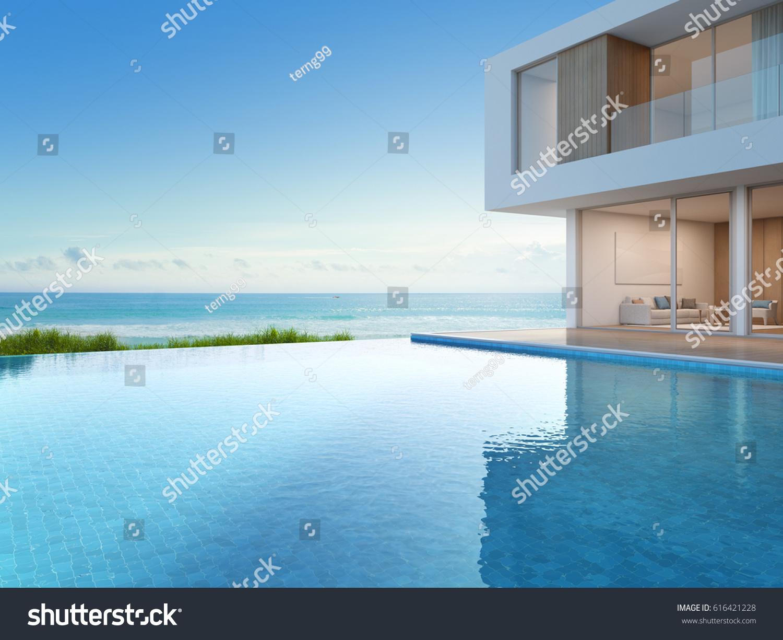 Luxury Beach House Sea View Swimming Stock Illustration 616421228 Shutterstock