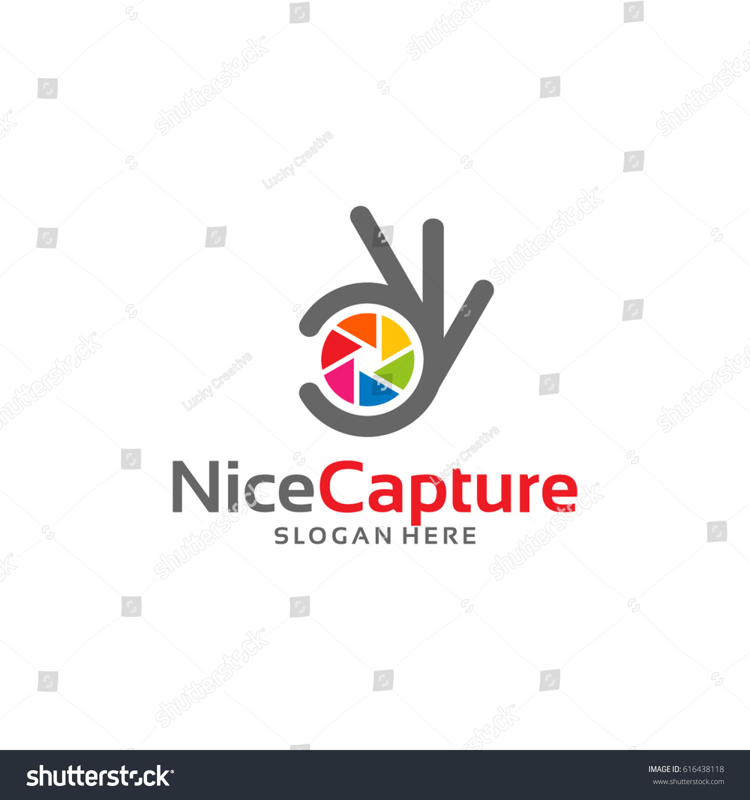 Nice Capture Logo Template Designs Stock Vector 616438118