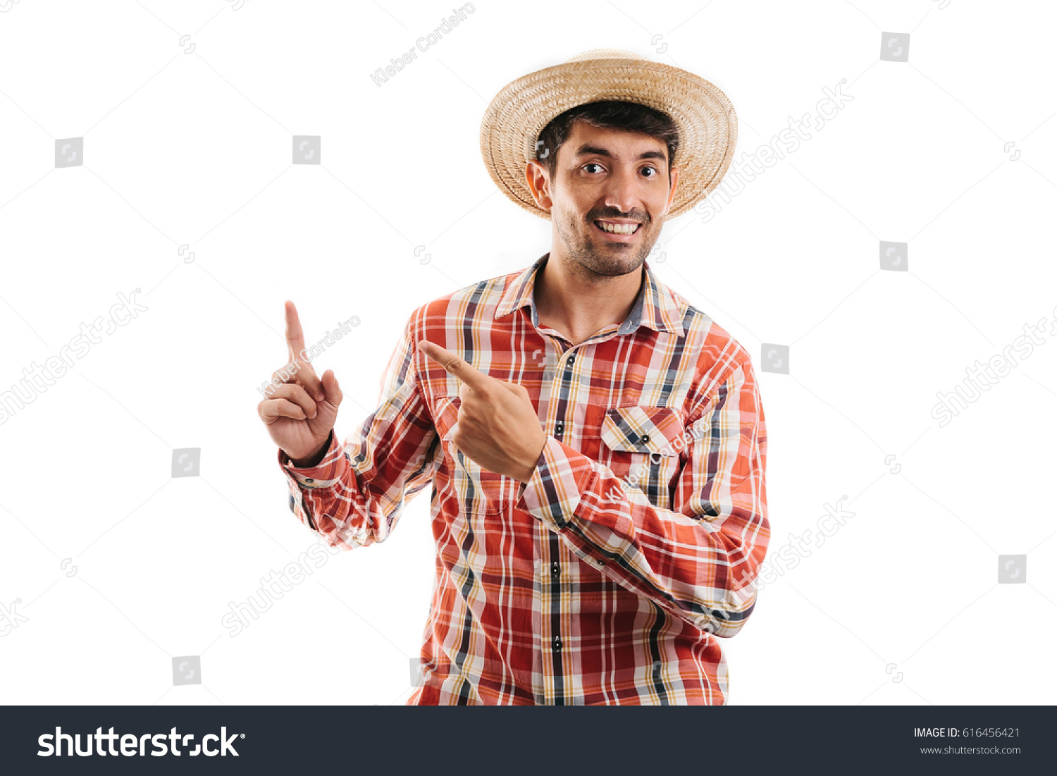 d33347cd0a6 Portrait Brazilian Man Wearing Typical Clothes Stock Photo (Edit Now ...