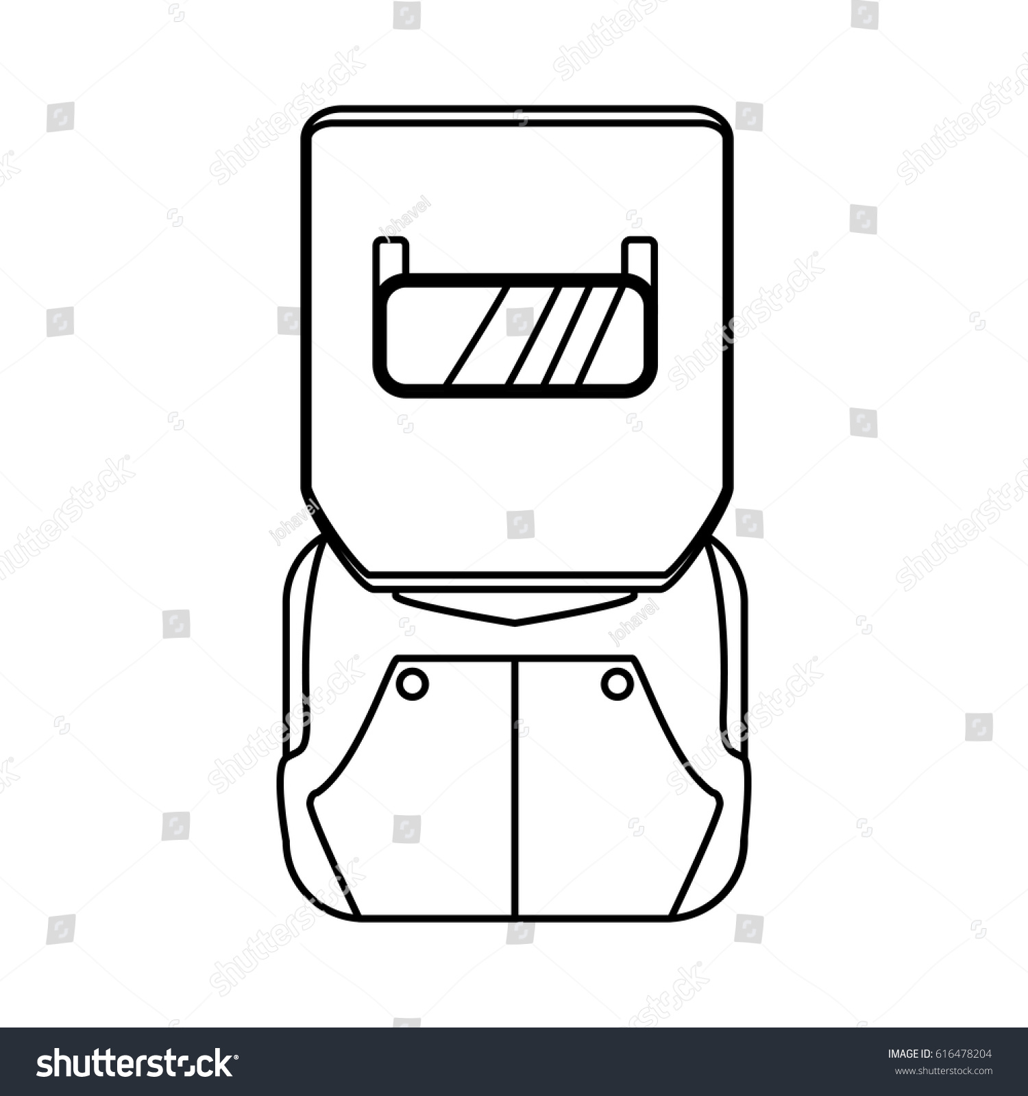 Welding Mask Isolated Stock Vector Royalty Free 616478204 Helmet Diagram