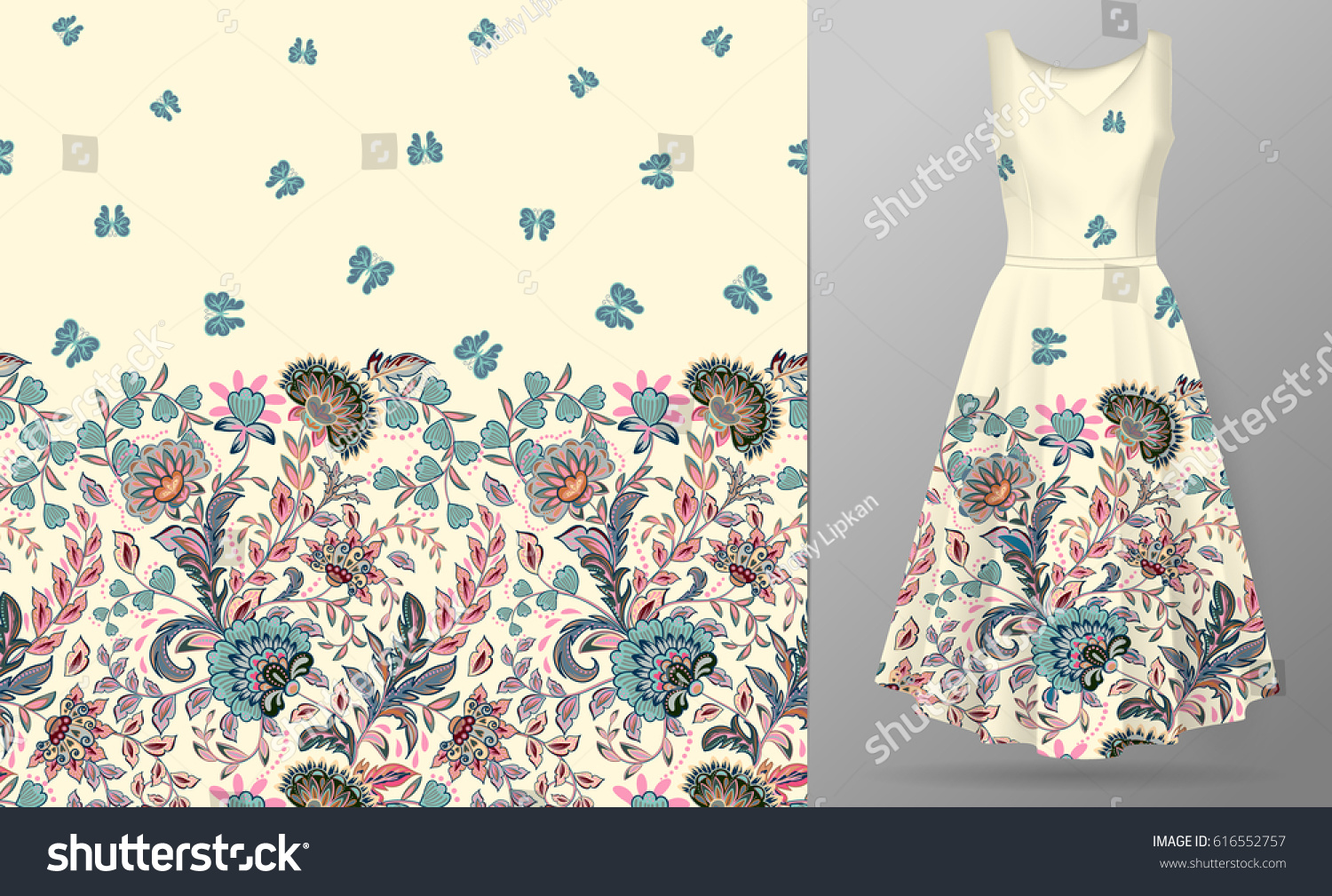vector seamless pattern pastel blue pink stock vector 616552757