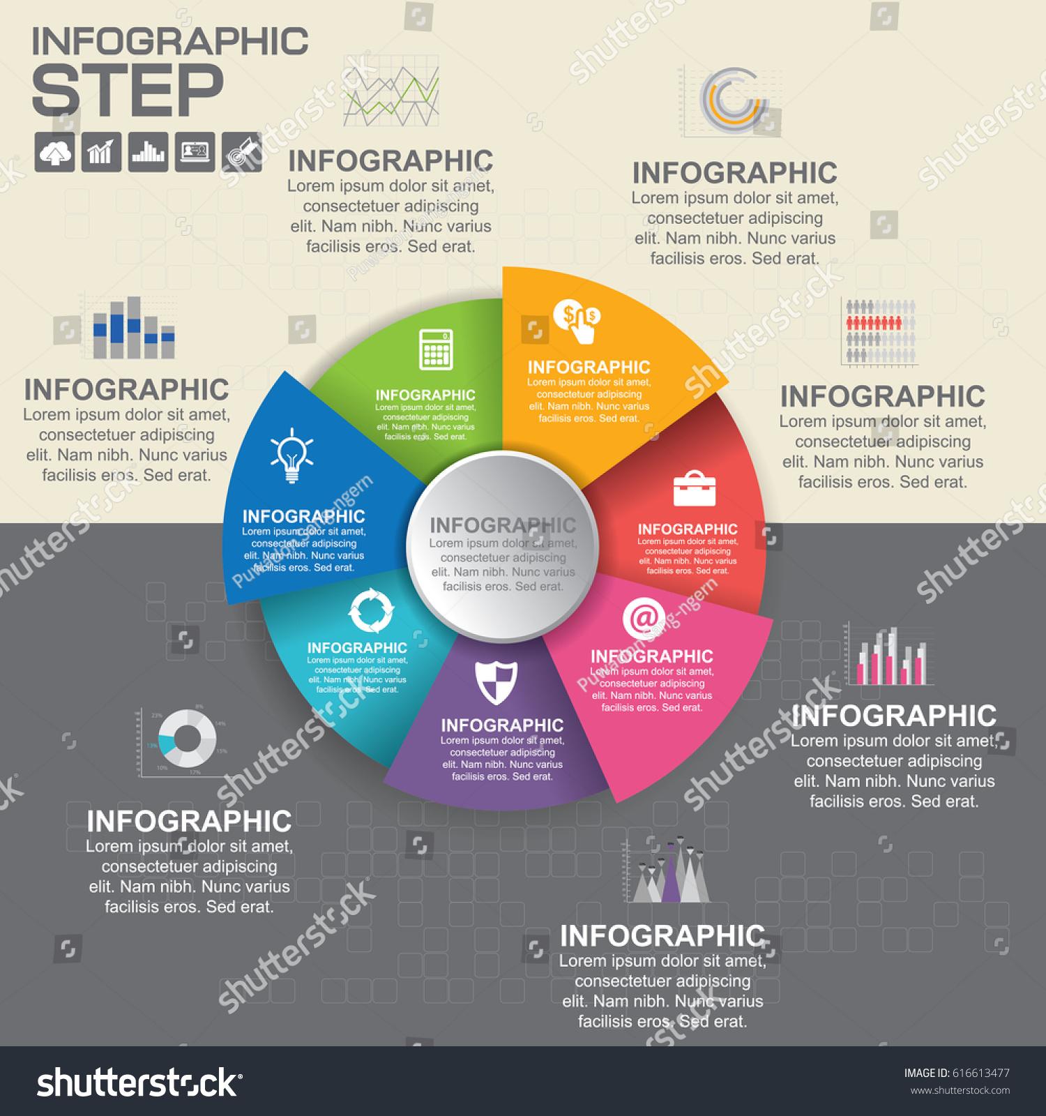 Flat circle business presentation vector slide stock vector royalty flat circle business presentation vector slide template with venn diagram ccuart Images