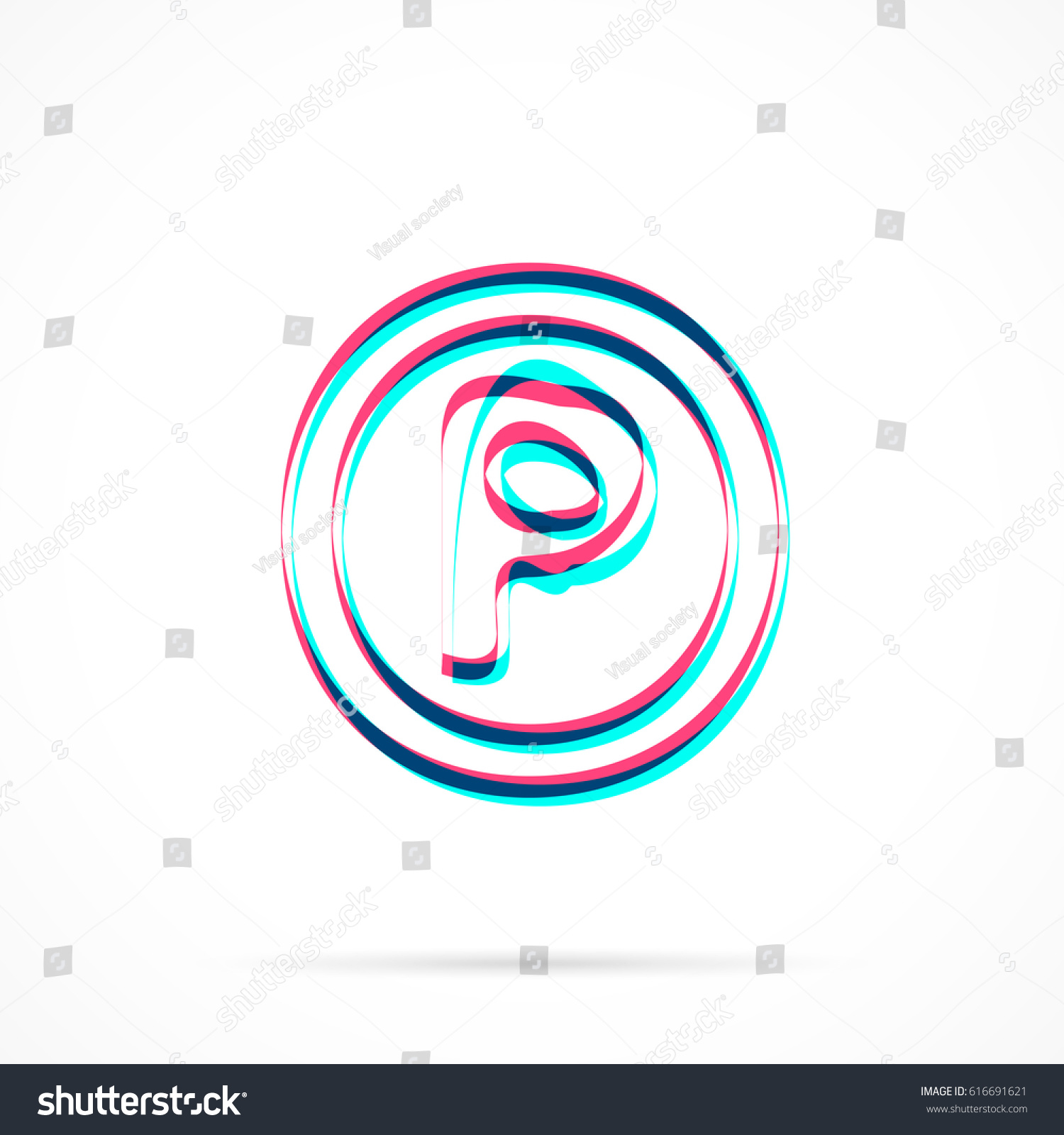 P sound recording copyright symbol hand stock vector 616691621 p sound recording copyright symbol hand drawn with blue and pink highlighters isolated on biocorpaavc