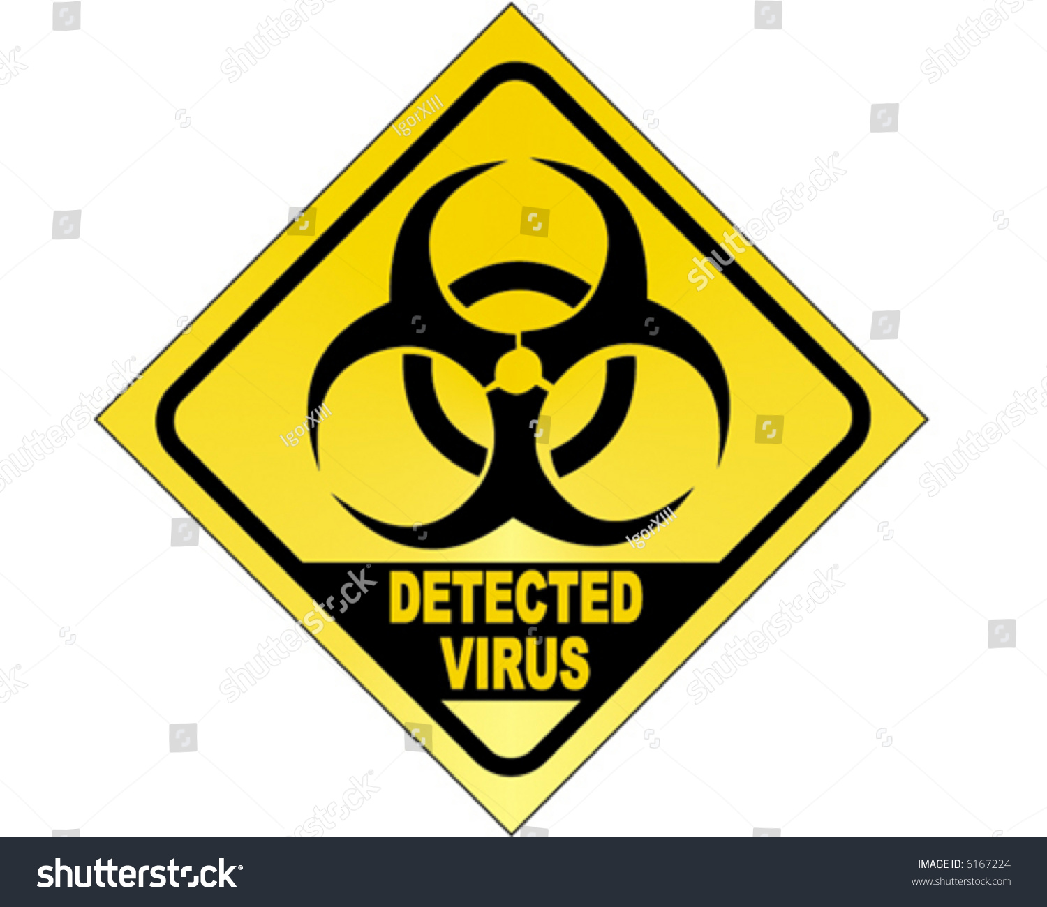 Virus Detected Biohazard Vector Sign Stock Vector 6167224 ...