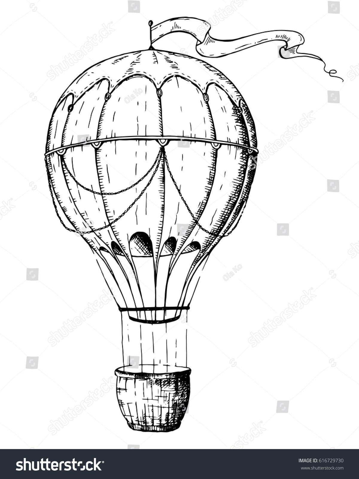 Hot Air Balloon Logo Design Template Stock Vector 616729730 ...