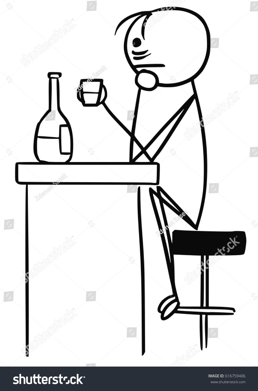 Cartoon Vector Stick Man Businessman Sad Stock Vector Royalty Free 616759406