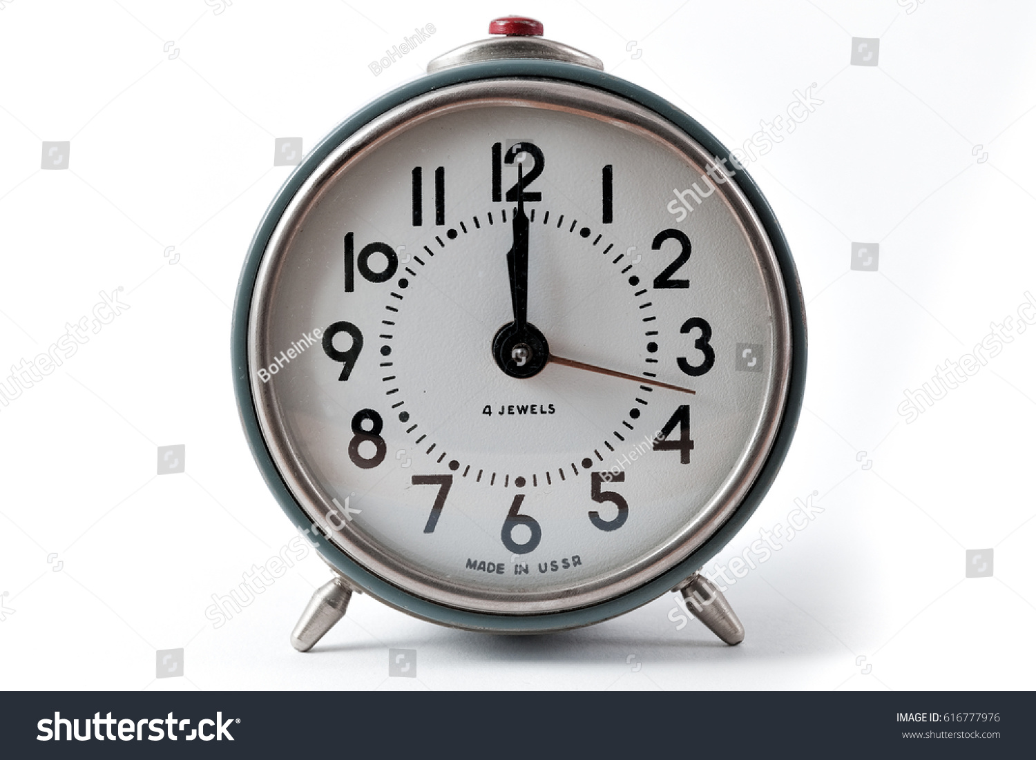 Vintage russian alarm clock front view stock photo 616777976 vintage russian alarm clock front view amipublicfo Images