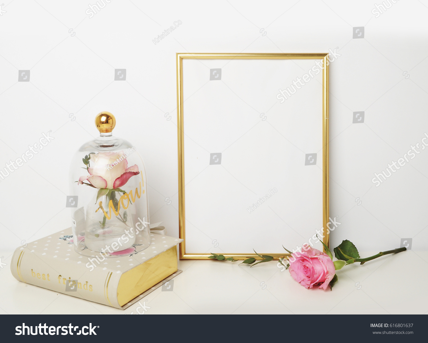 Gold Picture Frame Decorations Mock Your Stock Photo (Edit Now ...
