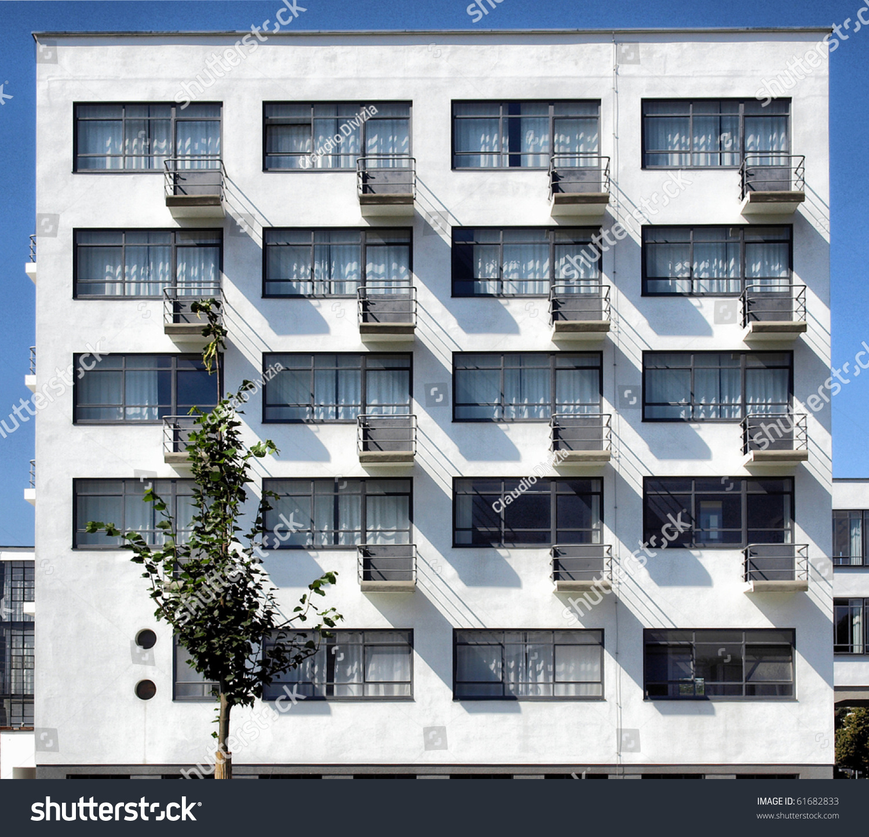 bauhaus building dessau near berlin germany stock photo 61682833 shutterstock. Black Bedroom Furniture Sets. Home Design Ideas