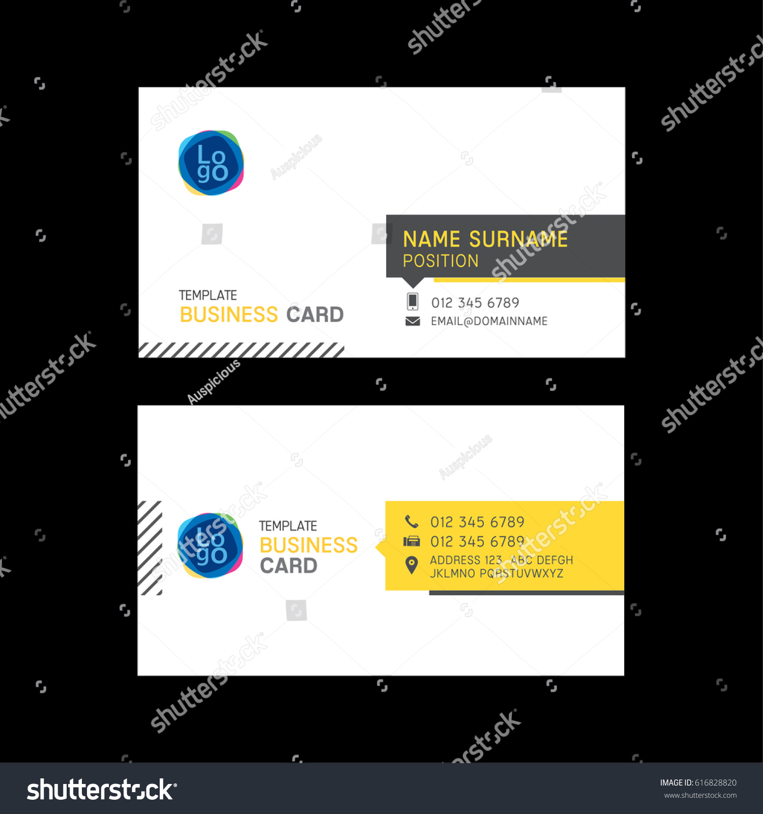 Business Card Template Design Corporate Theme Stock Vector ...