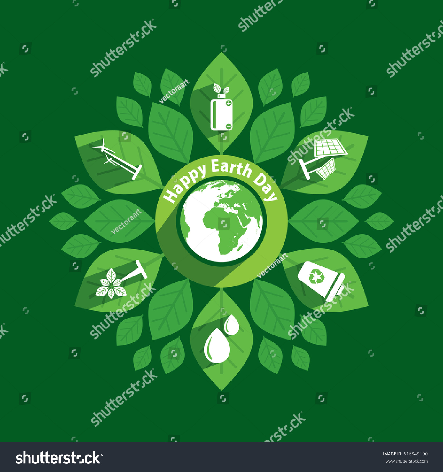 Poster design generator - Earth Day Poster Using Green Natural Energy Generator Concept Design