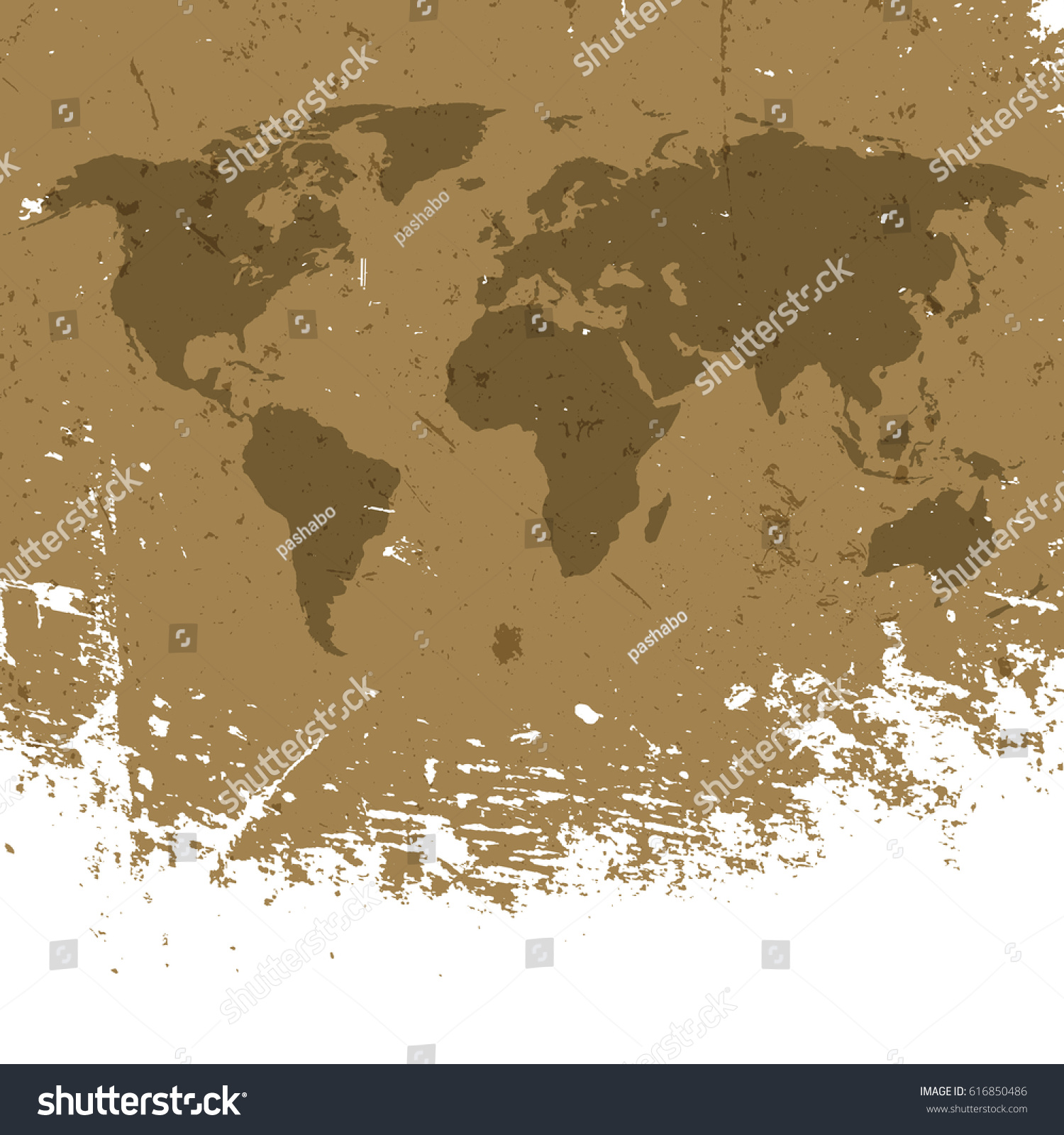Grunge world map background abstract old vectores en stock 616850486 grunge world map background abstract old aged geography vector background isolated edge to white gumiabroncs Gallery