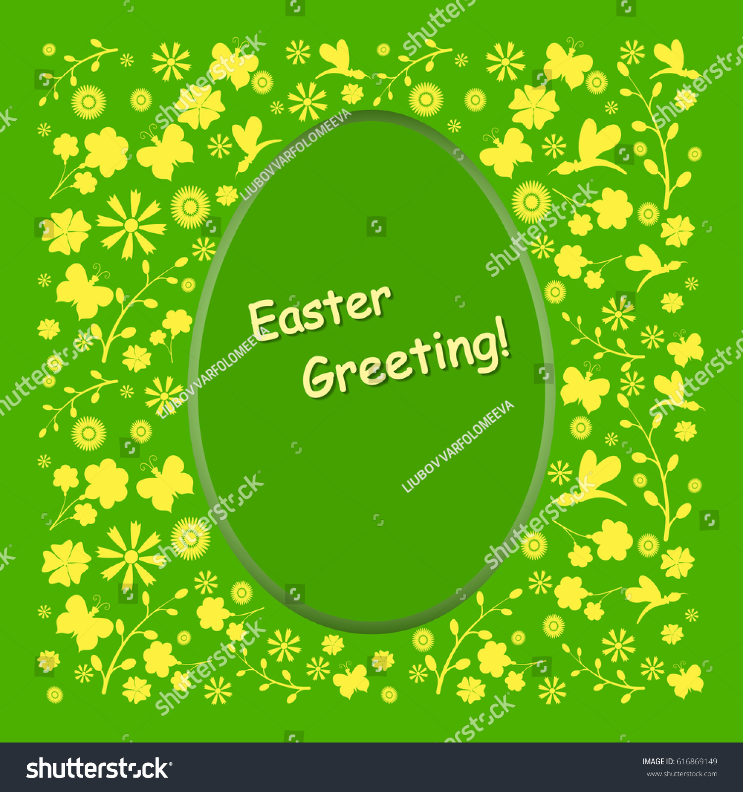 Holiday greeting easterbeautiful card illustration easter stock the holiday greeting for easterautiful card illustration with easter symbols and lettering kristyandbryce Images