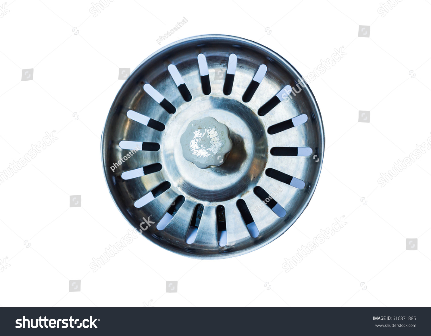 Old Steel Sink Drain Filter Cover Stock Photo 616871885 - Shutterstock
