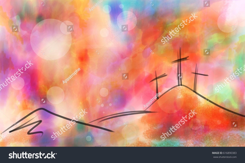 Royalty Free Stock Illustration of Easter Cross Design Hand Drawn ...