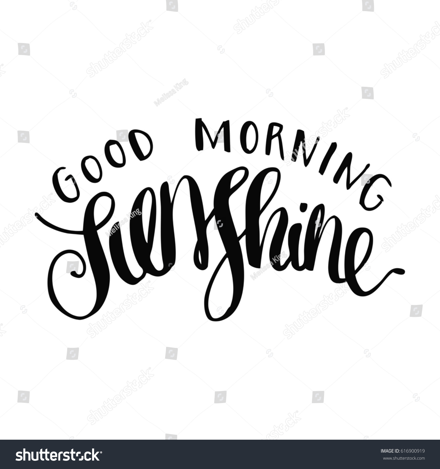 Quote On White Good Morning Sunshine Stockillustration 616900919 ...