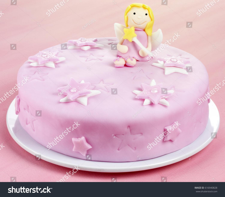 Pink Fairy Birthday Cake Stock Photo Edit Now 616940828 Shutterstock