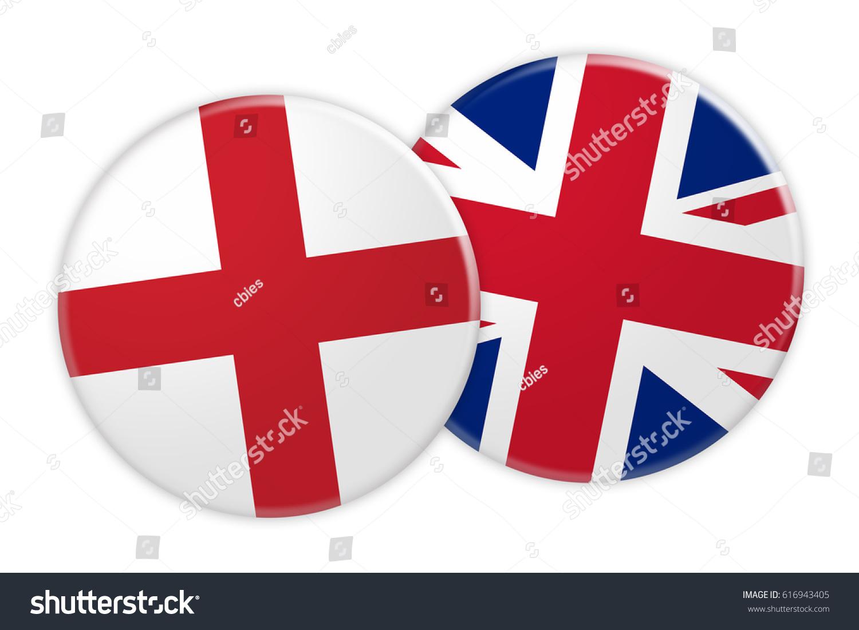 news concept england flag button on stock illustration 616943405