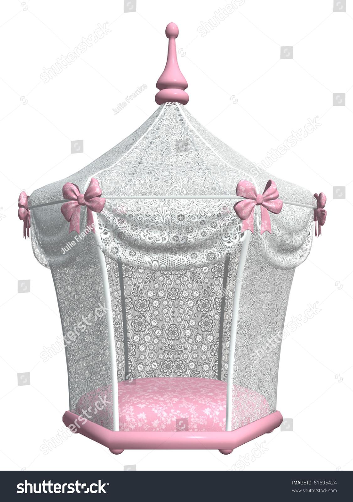 cute pink cat canopy bed  sc 1 st  Shutterstock & Cute Pink Cat Canopy Bed Stock Illustration 61695424 - Shutterstock