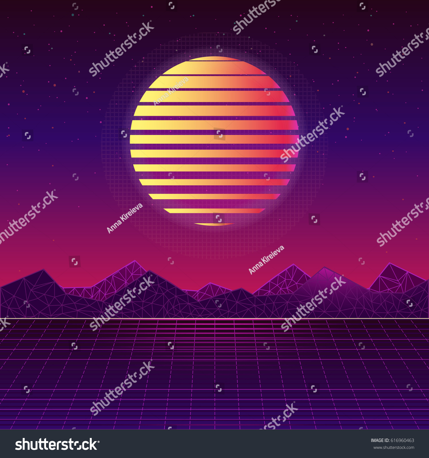 Vector backgrounds 80s style sun trendy stock vector - Space 80s wallpaper ...