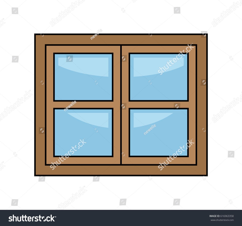 Window cartoon vector symbol icon design stock vector for Window design vector