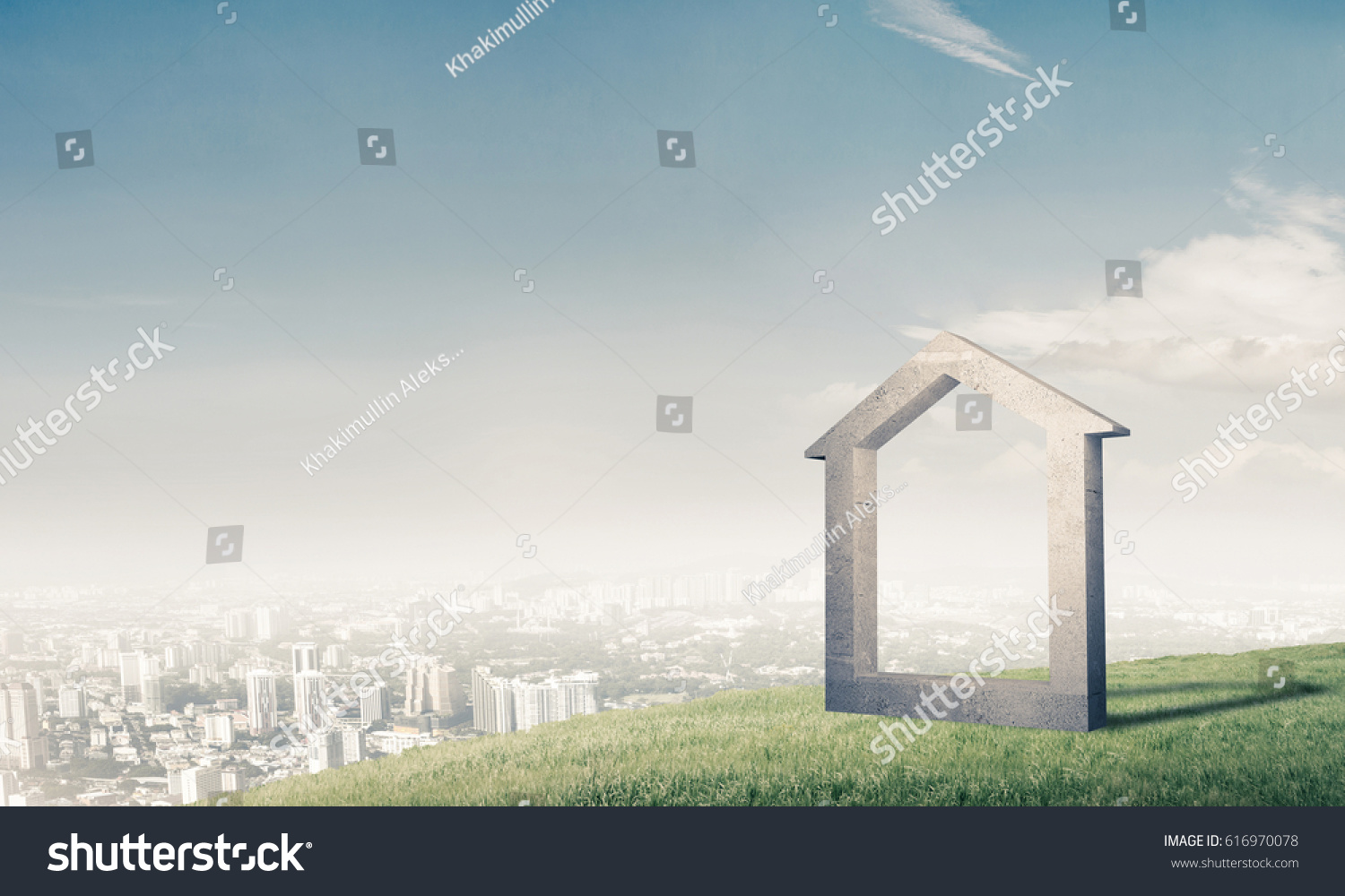House stone figure symbol construction real stock photo 616970078 house stone figure as symbol of construction and real estate outdoors buycottarizona Image collections