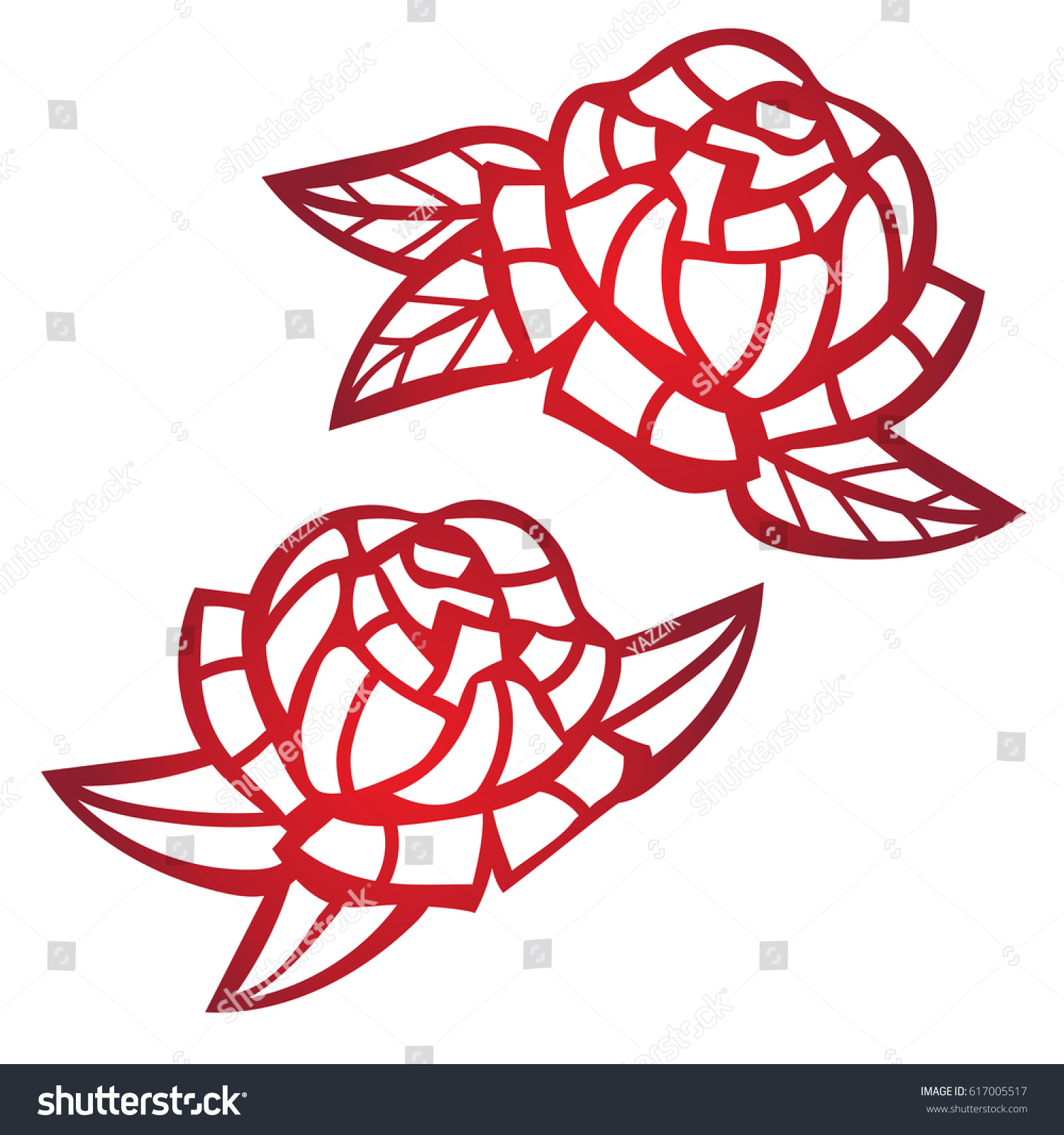 Laser cut flower pattern decorative panel stock vector 617005517 laser cut flower pattern for decorative panel vector template ready for printing postcards packets stopboris Images
