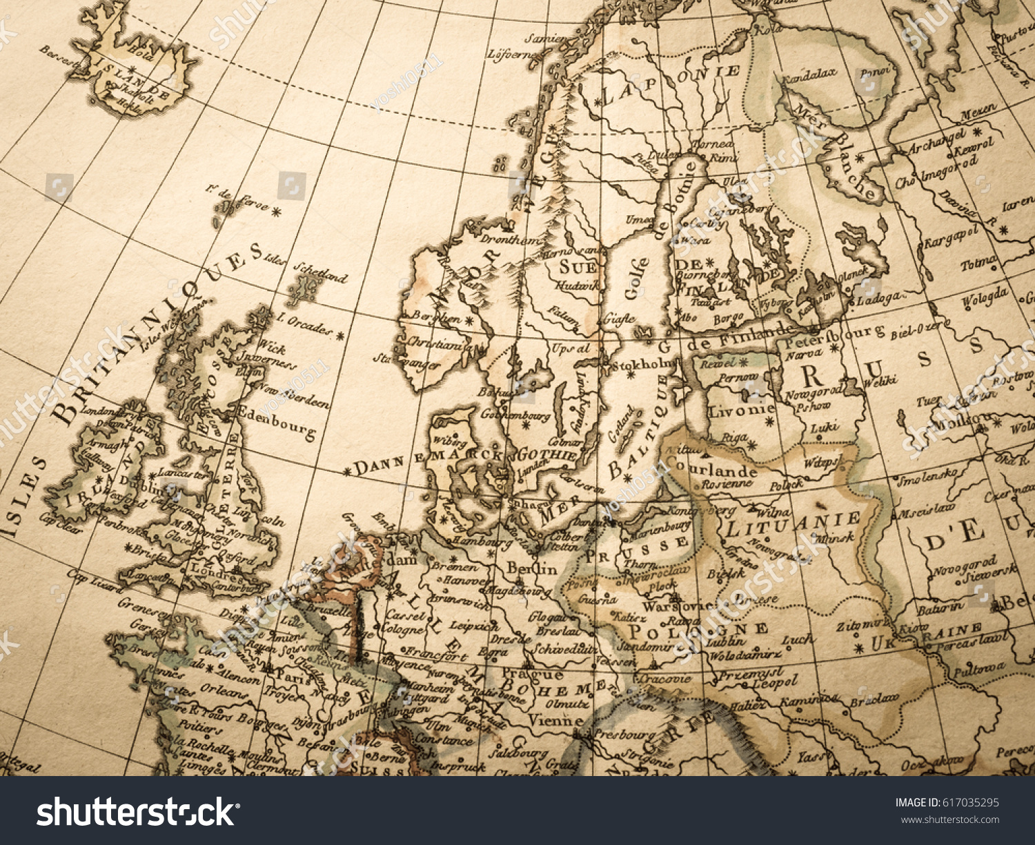 Antique world map northern europe stock photo safe to use antique world map northern europe gumiabroncs Images