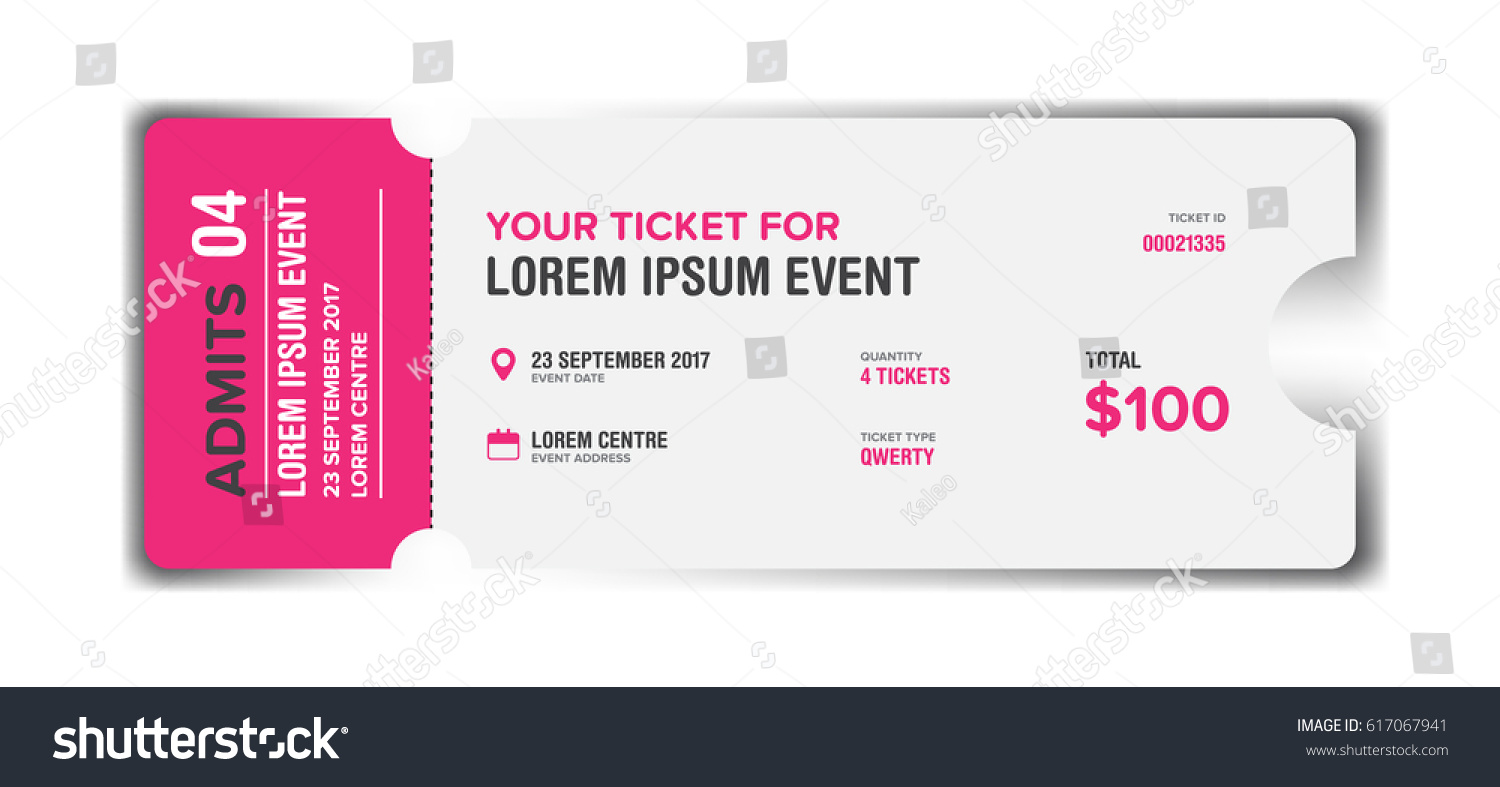 Event Ticket Card Modern Template Design Vector 617067941 – Event Card Template