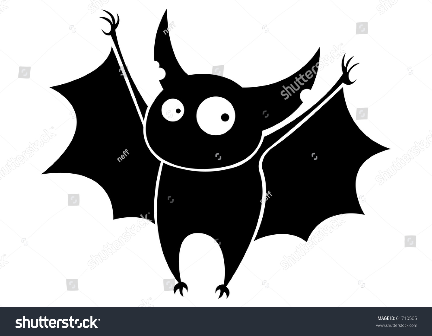 A Picture Of A Cartoon Bat small funny flying cartoon bat stock vector (royalty free