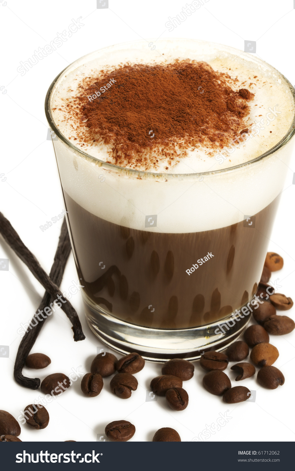 Espresso Coffee In A Short Glass With Milk Froth Chocolate ...
