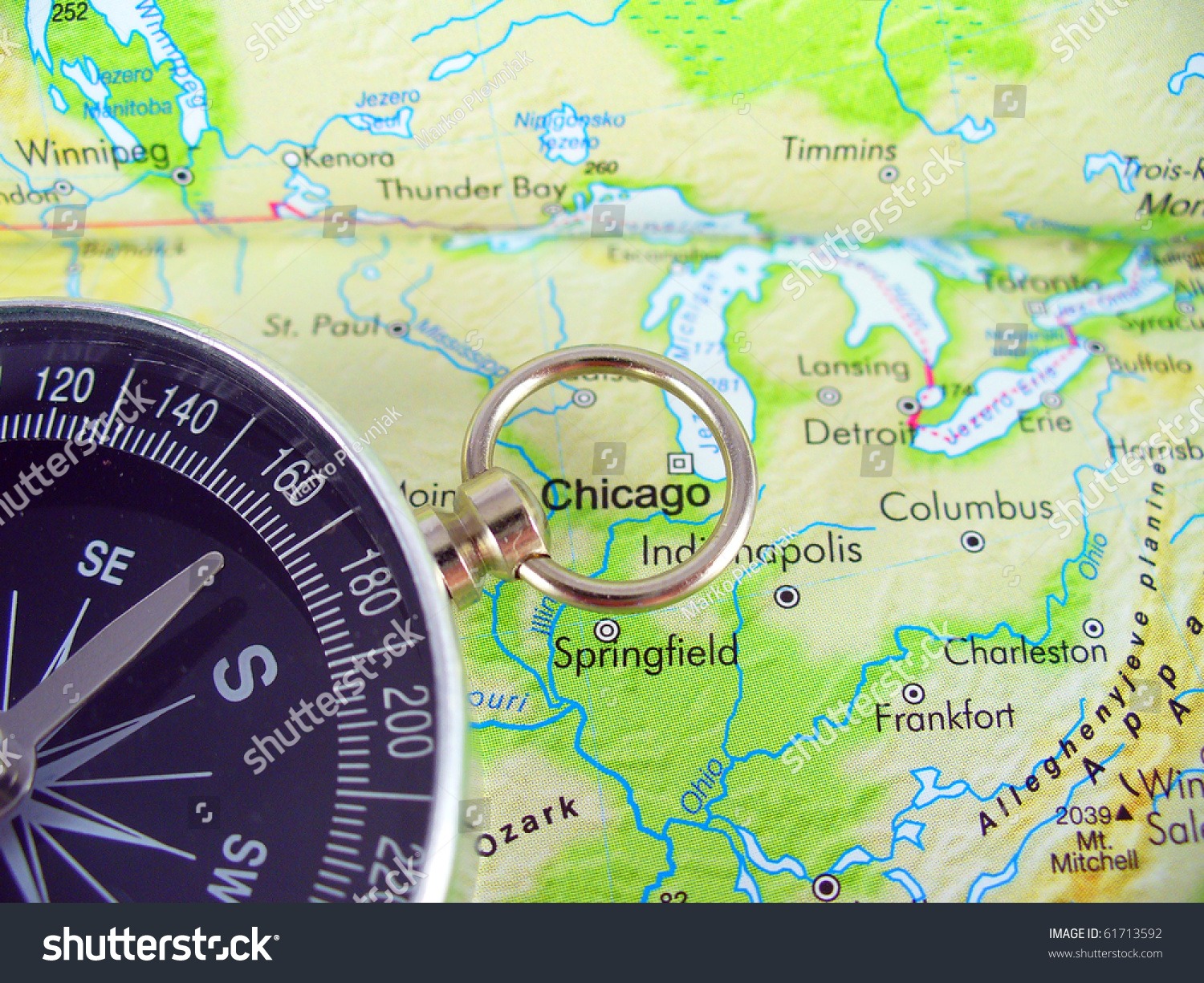 Picture of: Compass On Map Usa Stock Photo Edit Now 61713592