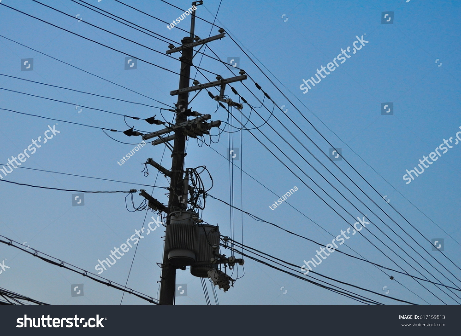 Link Electric Pole Wires Japanese Street Stock Photo (Royalty Free ...