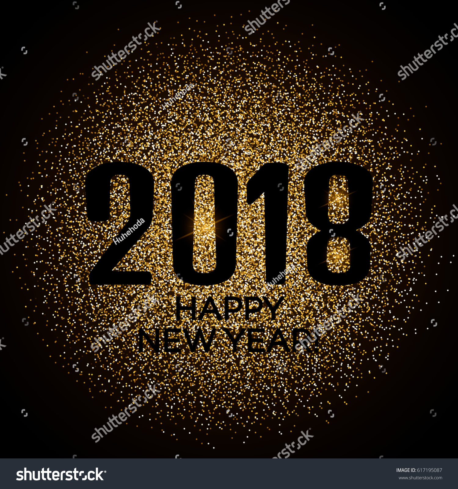 happy new year 2018 gold glitter new year background for banner flyer poster sign