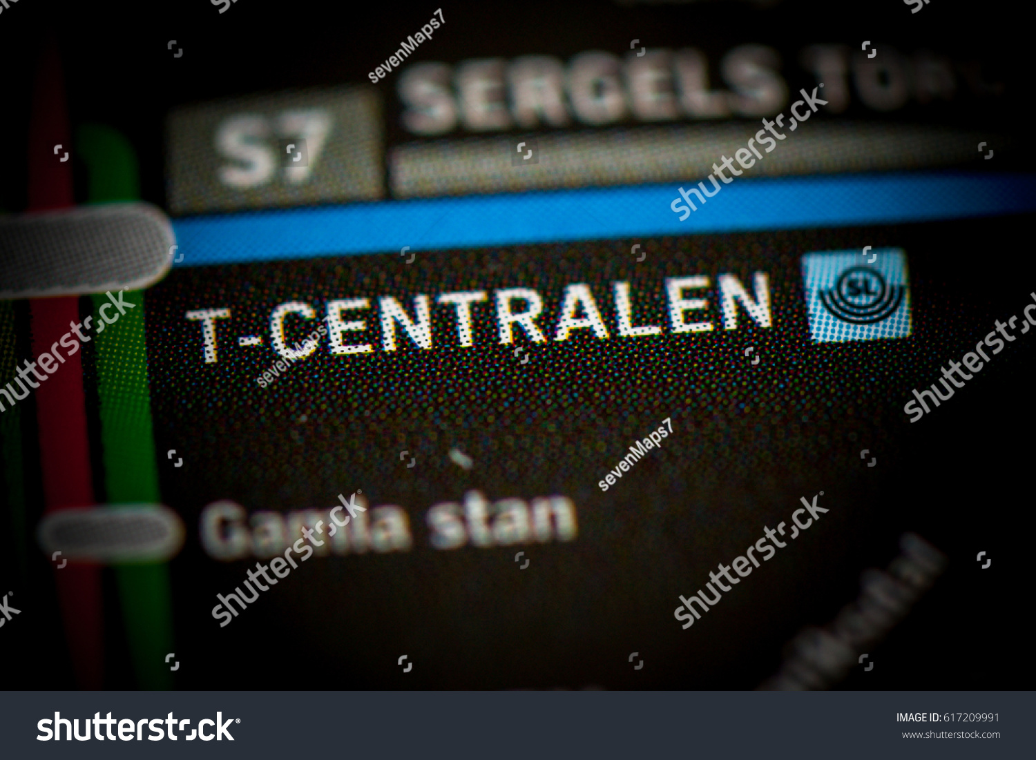 T Centralen Station Stockholm Metro Map Stock Photo Edit