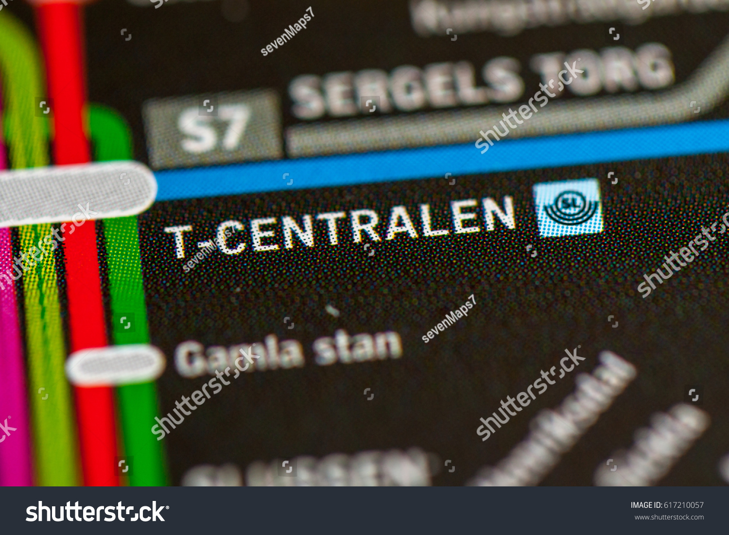 Tcentralen Station Stockholm Metro Map Stock Photo Edit Now