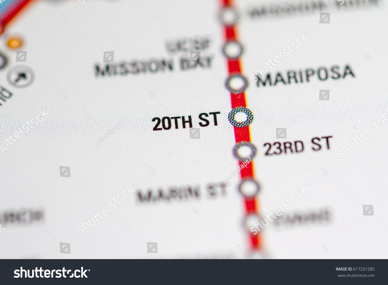 20th St Station San Francisco Metro Stock Photo Edit Now 617231285