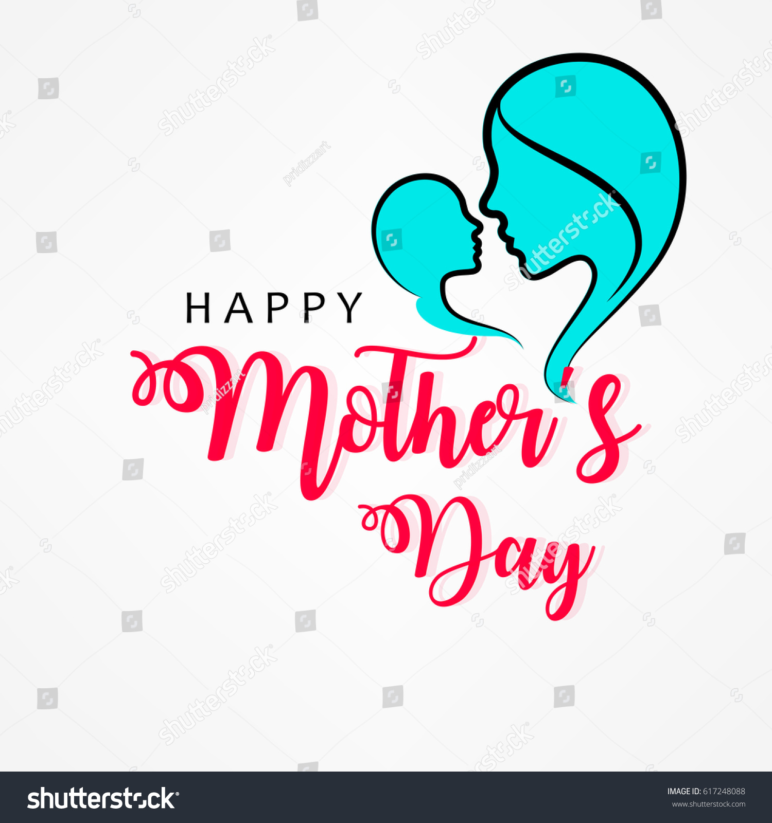 happy mothers day vector illustration greeting stock vector