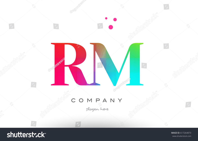 Rm R M Creative Rainbow Colors Stock Vector 617264873 - Shutterstock