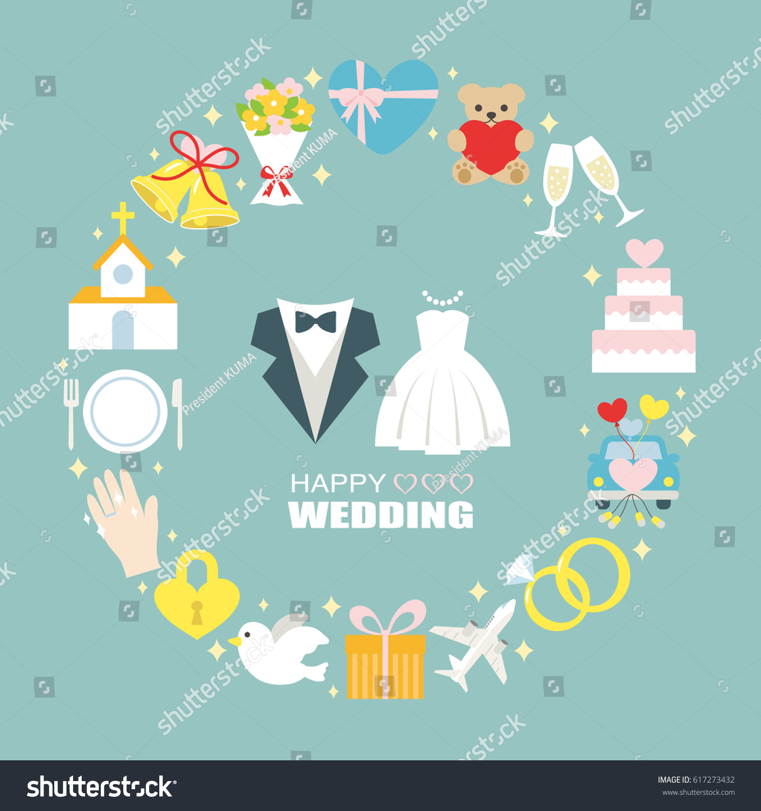 Happy wedding greeting card all the best ideas about marriage happy wedding greeting card stock vector 617273432 m4hsunfo