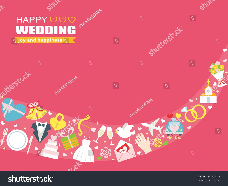 Happy wedding greeting card stock vector royalty free 617273474 happy wedding greeting card m4hsunfo