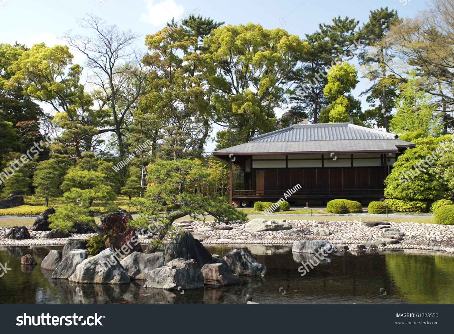 Small traditional japanese building at nijojo kyoto preview save to a lightbox