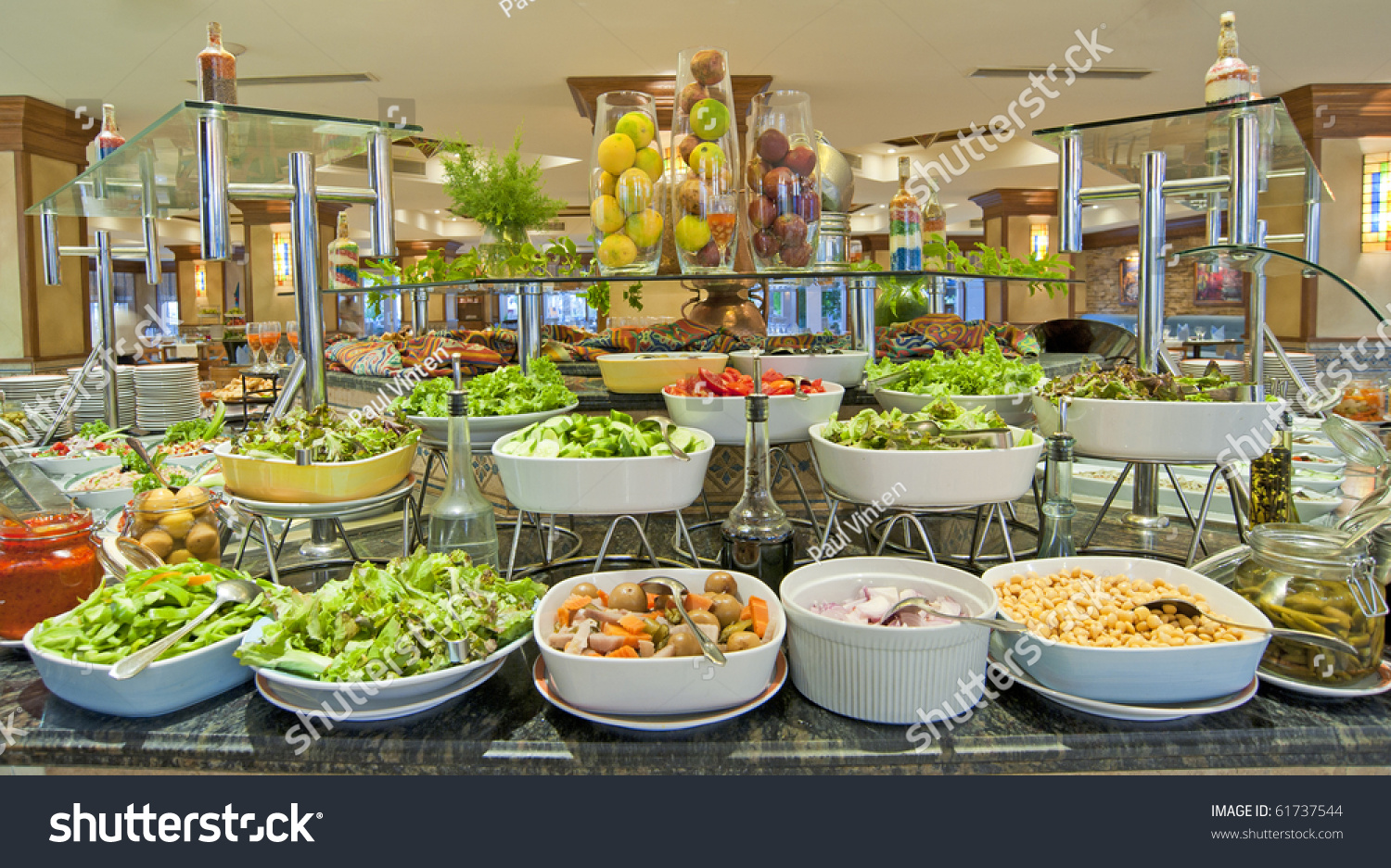 selection salads buffet bar luxury hotel stock photo. Black Bedroom Furniture Sets. Home Design Ideas