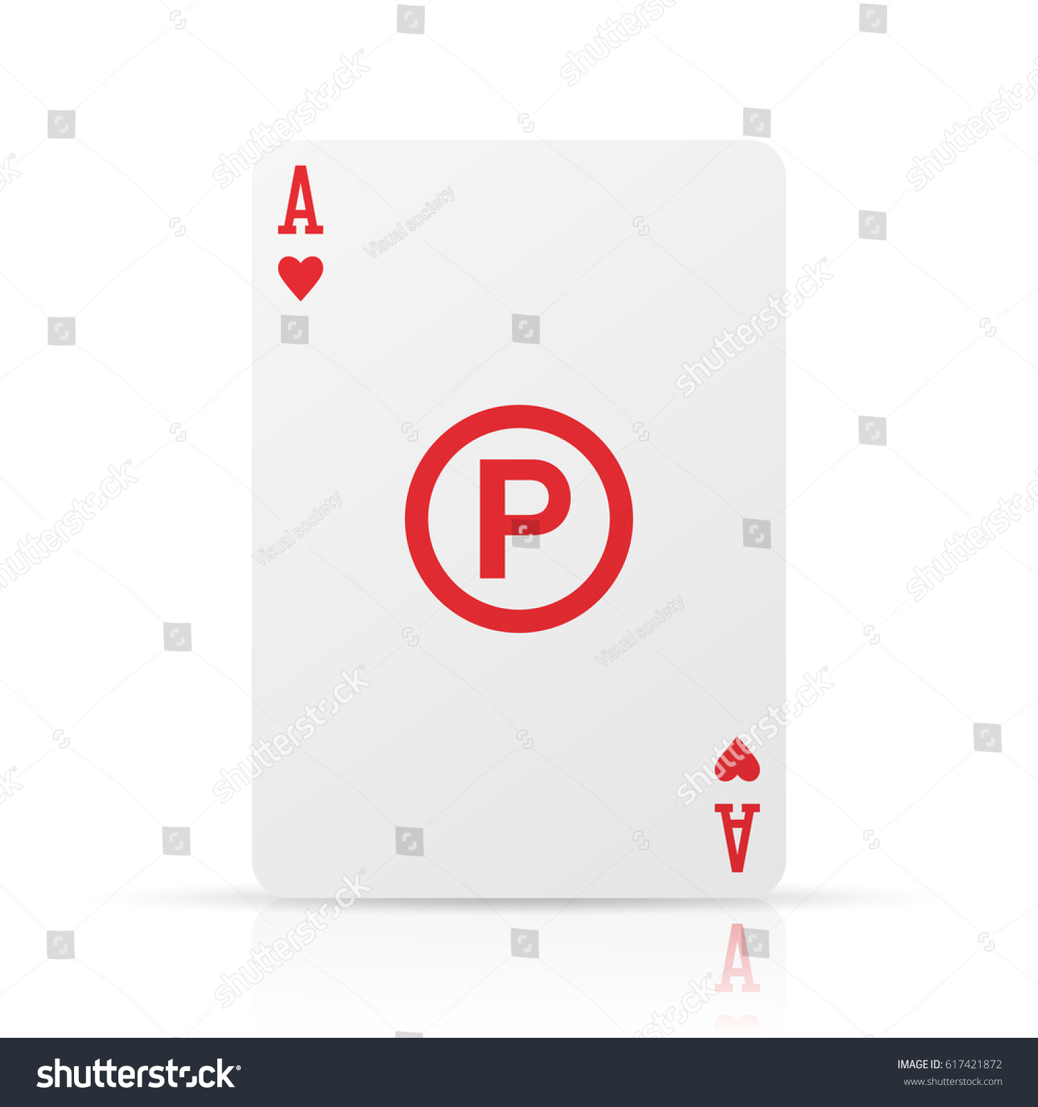 P sound recording copyright symbol on stock vector 617421872 p sound recording copyright symbol on ace of hearts card isolated on a white biocorpaavc