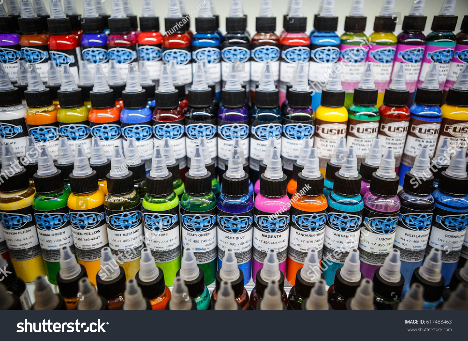 MOSCOW 1 APRIL 2017 Tattoo Festival Buy Stock Photo (Edit Now ...