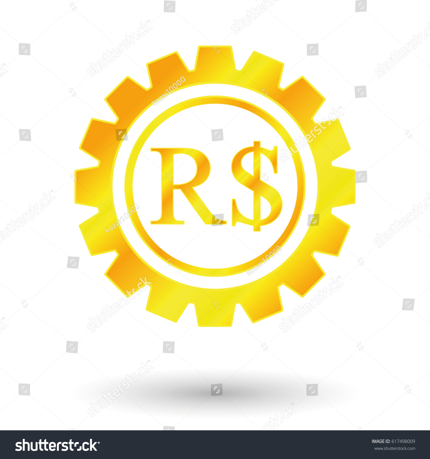 Symbol Brazilian Real Gold Money Stock Vector Royalty Free