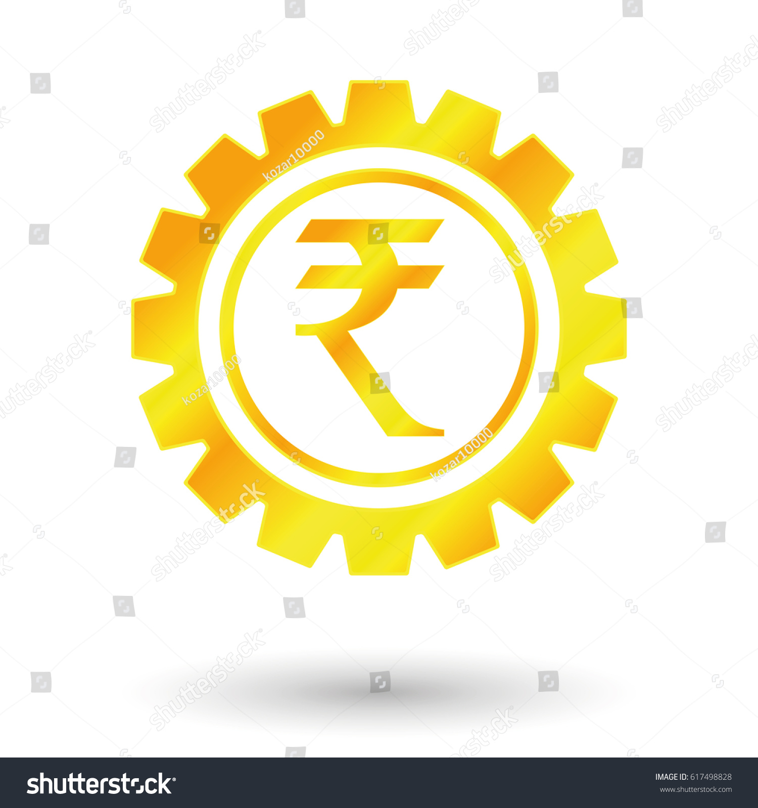 Symbol indian rupee gold money stock vector 617498828 shutterstock symbol indian rupee gold money buycottarizona Choice Image