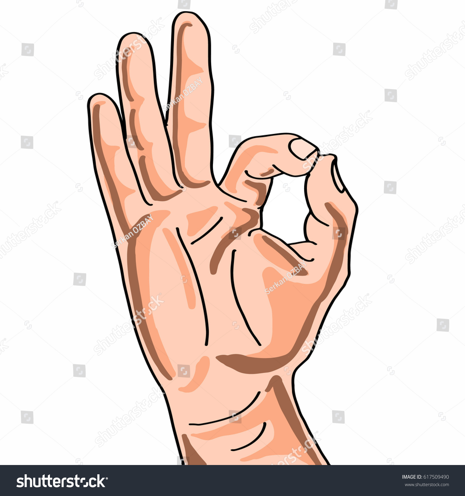 Hand Sign Perfect Icon Stock Illustration 617509490 Shutterstock