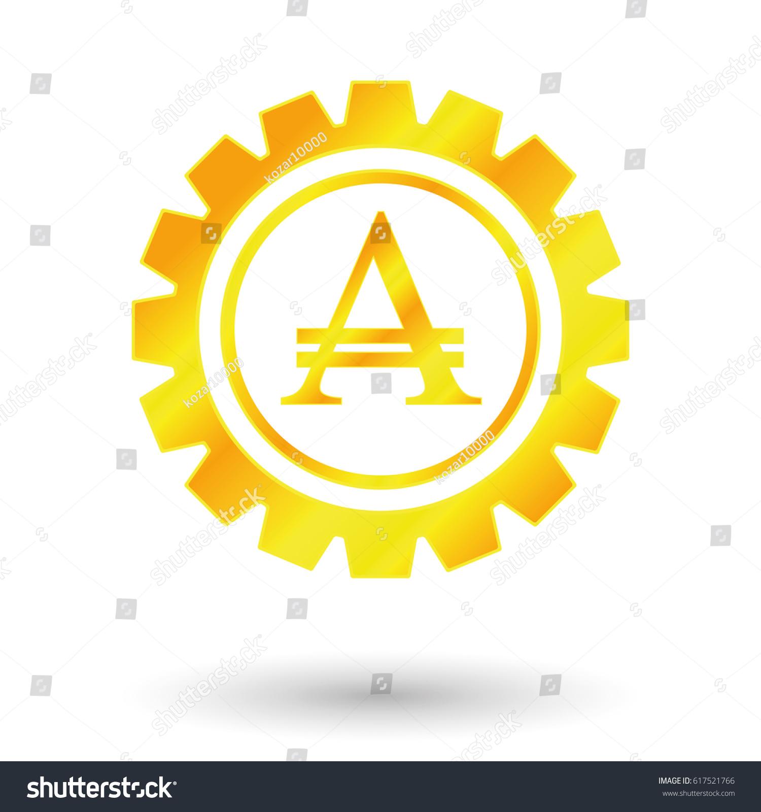 Symbol Argentine Peso Gold Money Stock Vector Royalty Free